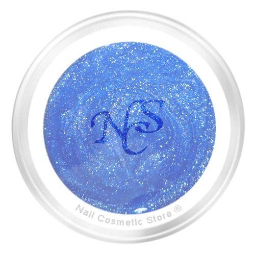 NCS Glitter Farbgel 704 Jeans 5ml - Blau