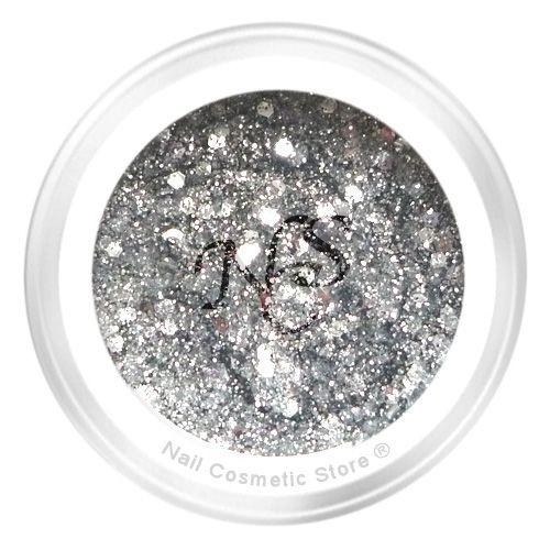 NCS Sparkle Farbgel 105 Platinium - Silber Grau Chrome