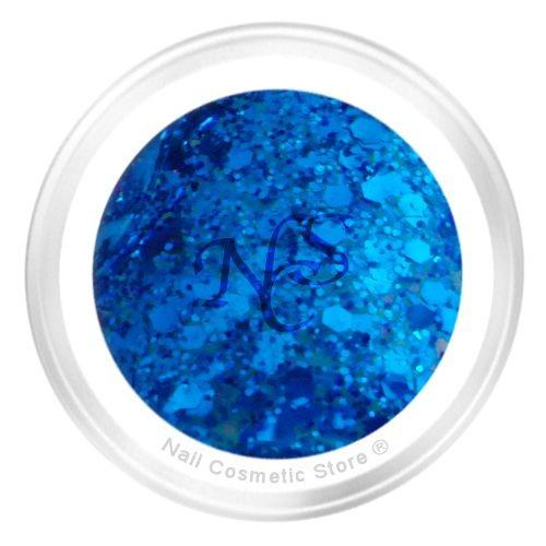 NCS Sparkle Farbgel 711 Mauritius 5ml - Blau