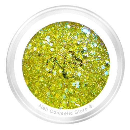 NCS Sparkle Farbgel 610 Smaragd für modische farbige Fingernägel mit WOW Effekt