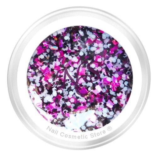 NCSSparkle Farbgel 438 Harlekin für modische farbige Fingernägel mit WOW Effekt