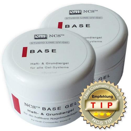 Base Gel / Haftgel das starke Grundiergel für die Modellage von Gelnägeln mit 2x 50ml Inhalt  im Doppelpack