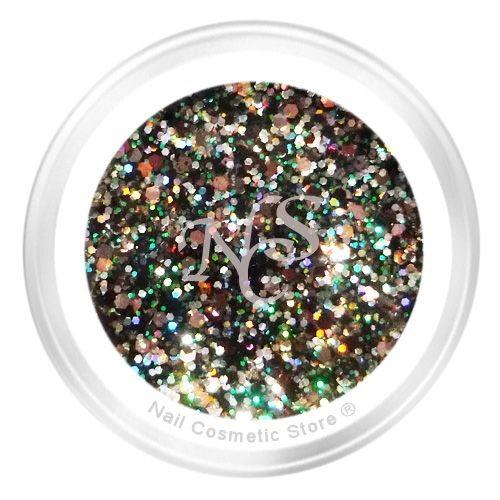 NCS Sparkle Farbgel 612 Antik für modische farbige Fingernägel mit WOW Effekt