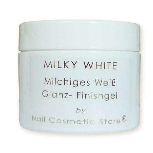 NCS Milky Pink Finish Gel - milchig weißes Glanzgel