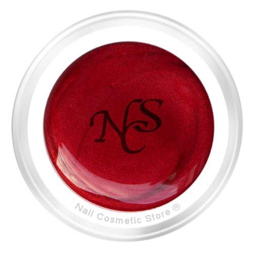 NCS Pearl Farbgel 448 Baccara für elegante rote Fingernägel