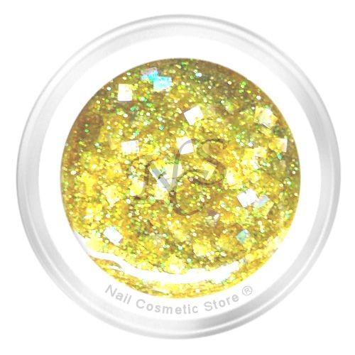 NCS Sparkle Farbgel 203 Spring - Gelb Gold Chrom