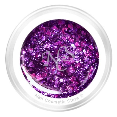 NCS Sparkle Farbgel 815 Space 5ml - Violett Chrome