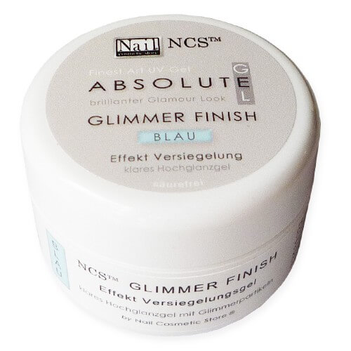 "ABSOLUTE Glimmer Finish Gel ""Blau"" 30ml"