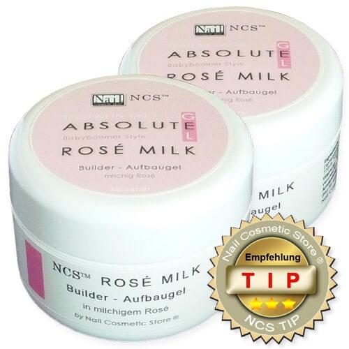 NCS ABSOLUTE Rosé Milk - rose milchiges Aufbaugel
