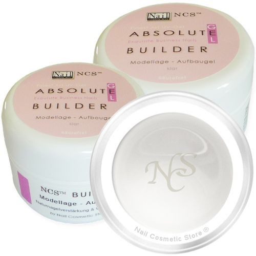 Klares NCS ABSOLUTE Builder Gel - Aufbaugel für perfekte künstliche Fingernägel im Doppelpack mit 2x 50ml Inhalt