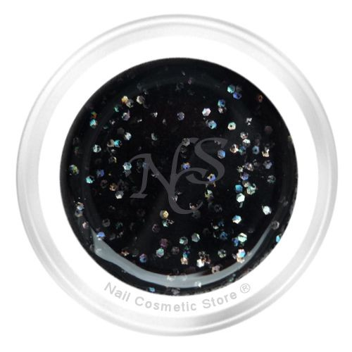 NCS Sparkle Farbgel 904 Black Diamond 5ml - Schwarz Chrome