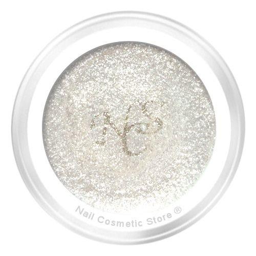 NCS Glitter Farbgel White Satin 5ml - Perlmutt Weiß