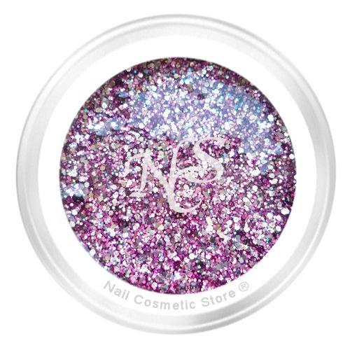 NCS Sparkle Farbgel 407 Pink Star für modische farbige Fingernägel mit WOW Effekt
