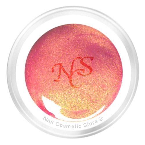 NCS Pearl Farbgel 423 Rosenwasser für elegante orange-rote Fingernägel
