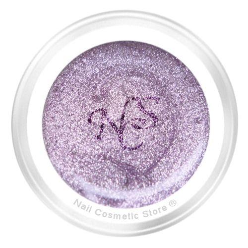 NCS Metallic Farbgel 421 Glam für elegante violett-rote Fingernägel