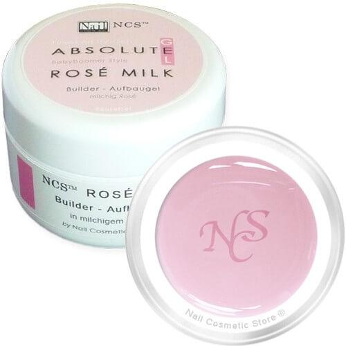 NCS ABSOLUTE Rosé Milk 15ml - rose milchiges Aufbaugel für den Babyboomer Look