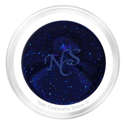 NCS Glitter Farbgel 714 Midnight 5ml - dunkel Mitternachts Blau