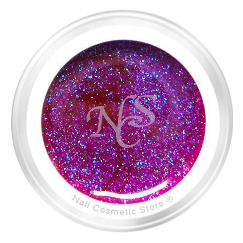 NCS Neon Farbgel 24 Starynight Effekt 5ml - Pink Violett Glimmer