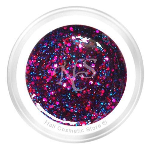 NCS Sparkle Farbgel 411 Funky - Pink Blau