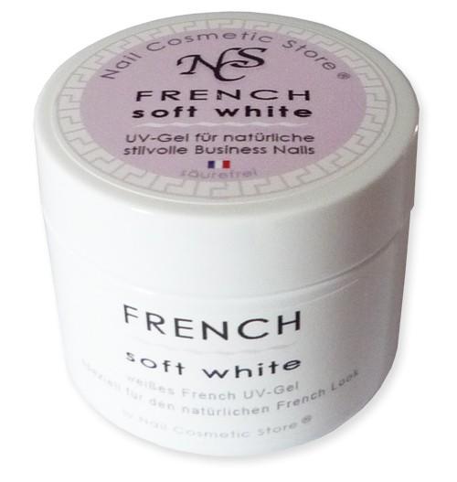 NCS Soft White - natürlich weißes French Gel mit 50ml Inhalt