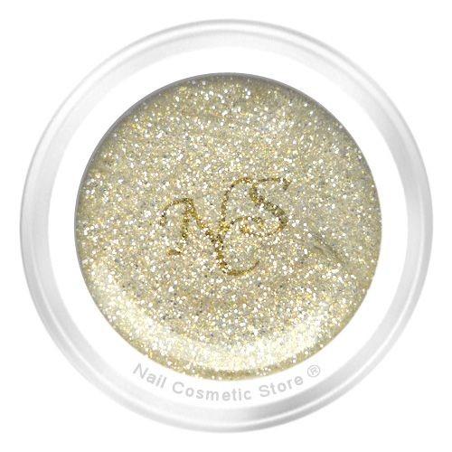 NCS Glitter Farbgel Sansibar 5ml - Gold Grau
